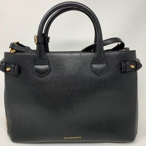 Burberry Medium Derby Black Leather Tote Bag